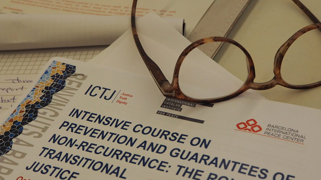 INTENSIVE COURSE ON PREVENTION AND GUARANTEES OF NO RECURRENCE: THE ROLE OF TRANSITIONAL JUSTICE.